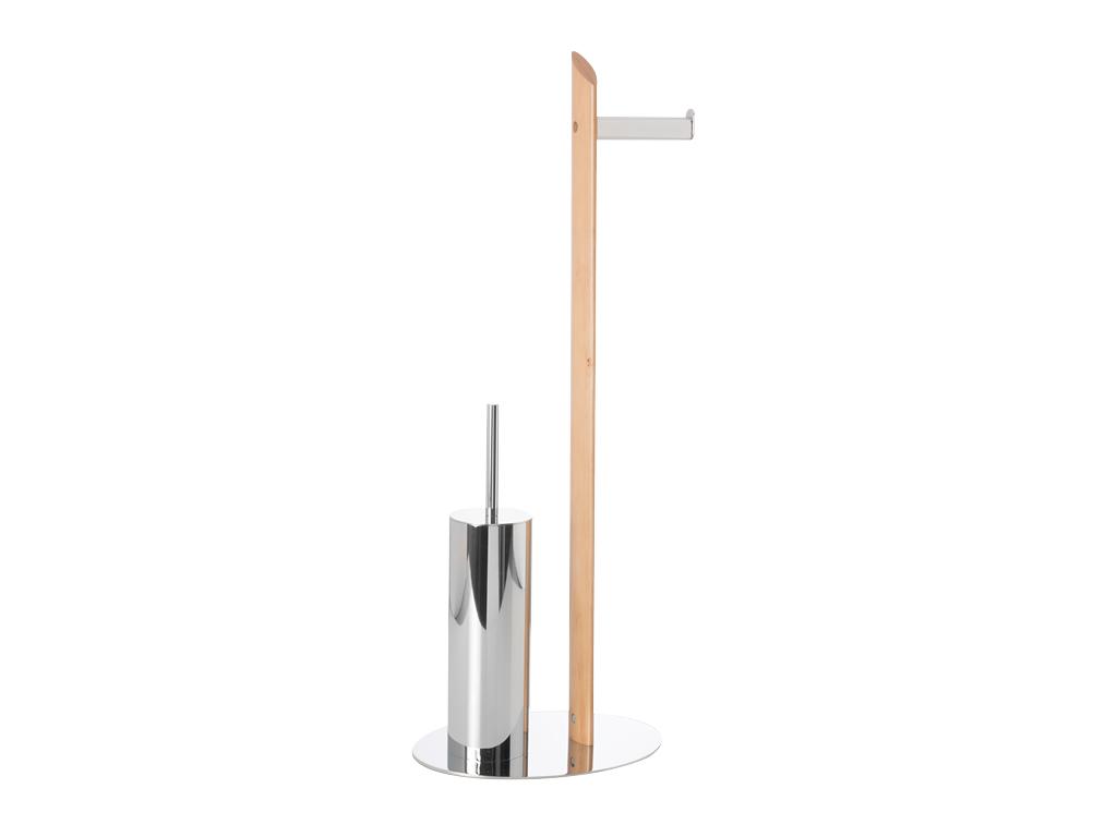 zen - piantana per carta e scopino - cipì - design ed accessori ... - Scopino Da Bagno Design
