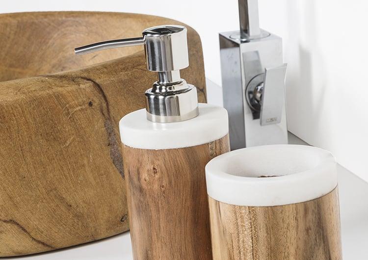 Accessori Bagno In Pietra.Accessori In Legno E Pietra Cipi Design Ed Accessori Per La Stanza Da Bagno